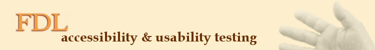 FDL accessibility and usability testing - logo